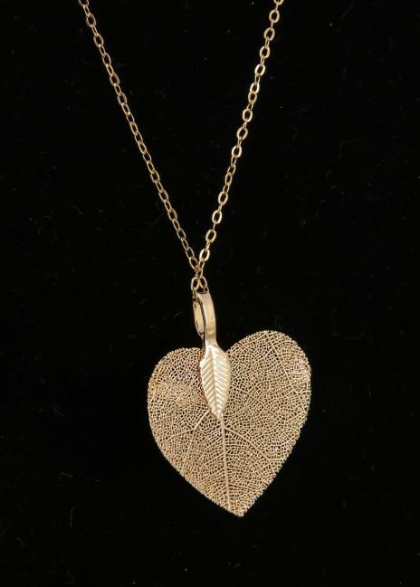Corazón Cristalizado Dorado